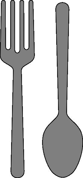 Fork And Spoon Clip Art At Clker Com Vector Clip Art