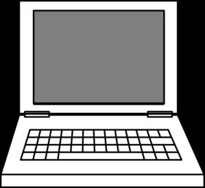 Laptop Clip Art at Clker.com - vector clip art online ...   299 x 273 png 7kB
