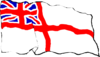 Rough White Ensign Clip Art