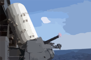 Five Hundred Rounds Are Shot From The Barrel Of A Close-in Weapon System (ciws) Mount Clip Art