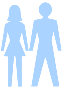 Man And Woman (heterosexual) Icon (blue) Clip Art