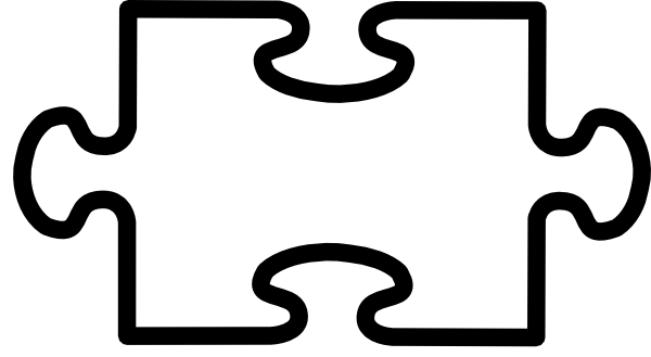 Puzzle piece test clip art at vector clip art for Large blank puzzle pieces template