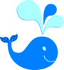 Polka Dot Whale New Color Clip Art