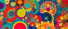 Colorful Pattern Mixed Wallpaper Clip Art