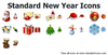 Standard New Year Icons Image
