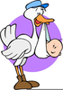 Stork Baby Clipart Image