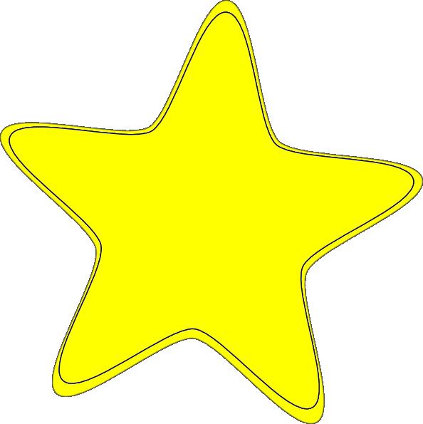 Yellow Star 2 Clip Art At Clker Com Vector Clip Art