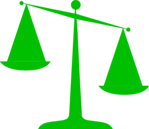 Scales Of Justice (green) Clip Art