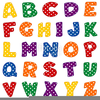 Alphabet Dotted Letters Image