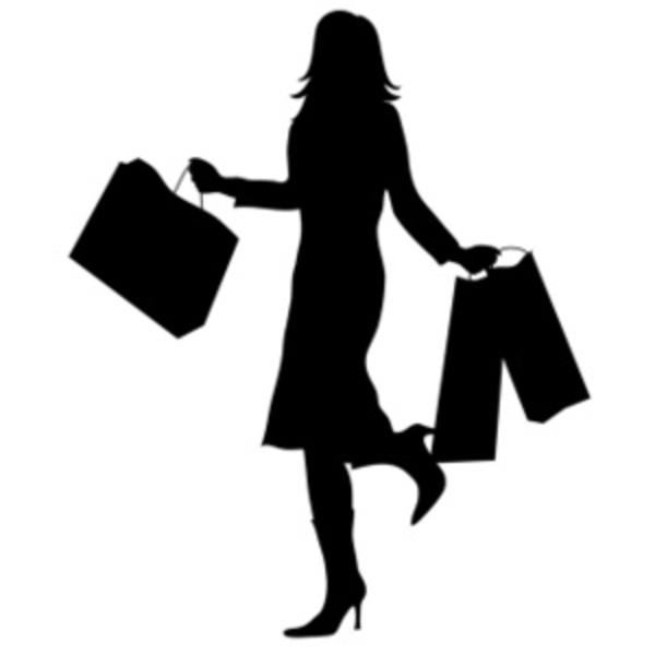 Lips Vector Black Woman With Shopping Si...