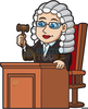 Animated Judge Clipart Image