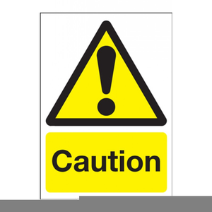 Free Clipart Caution Signs Image