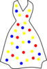 Polka Dots White Dress Clip Art