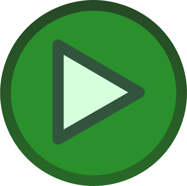 Green Plain Play Button Icon Clip Art At Clkercom - Vector Clip Art Online, Royalty Free  Public Domain