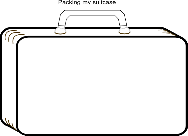 Image Result For Suitcase Coloring Templates