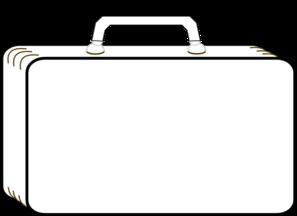 Colorless Suitcase Clip Art At Clker Com Vector Clip Art