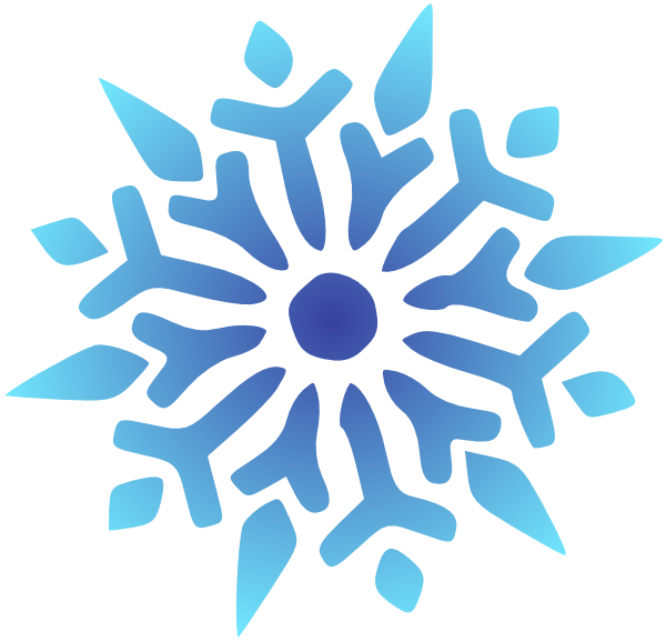 Snowflake blue radiant clip art at clker vector