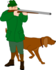 Hunter With Dog Clip Art