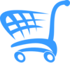 Blue Shopping Cart Clip Art
