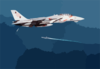 F-14 Approaches Ship Clip Art
