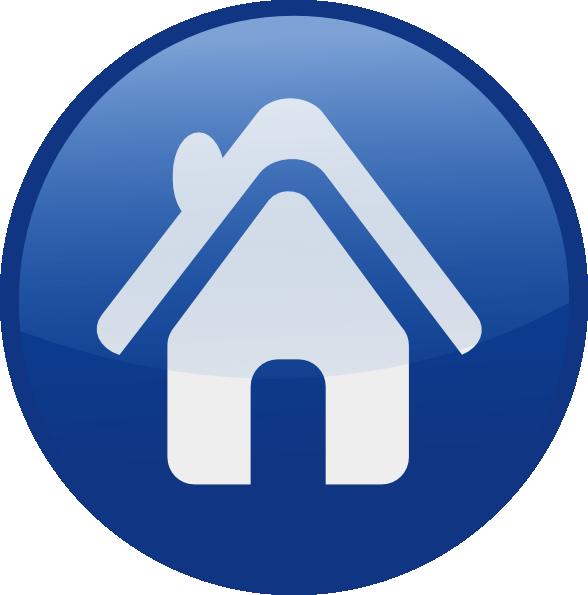 Glossy Home Icon Clip Art at Clker.com - vector clip art ...