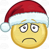 Smiley Face With Santa Hat Clipart Image