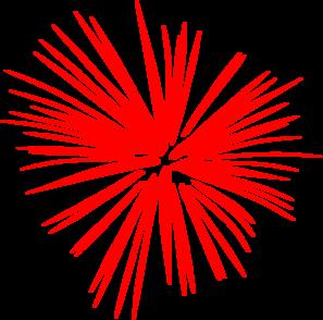 Large Red Fireworks Clip Art At Clker Com Vector Clip