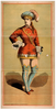 [chorus Girl In Short Red Costume And Blue Stockings] Image
