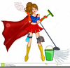 Clipart Woman Cleaning Image