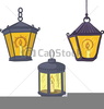 Antique Lanterns Clipart Image