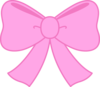Cute Pink Bow Clipart Image