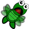 Turtle Flapping Clip Art
