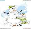 Moving Snowman Clipart Image