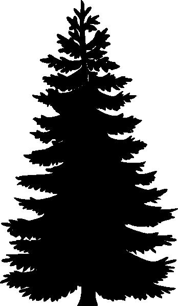pine tree wire frame clip art at clkercom vector clip