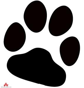 free dog paw print clipart free images at clker com vector clip rh clker com dog print clip art border dog print clip art black