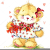 Valentine Bears Clipart Image