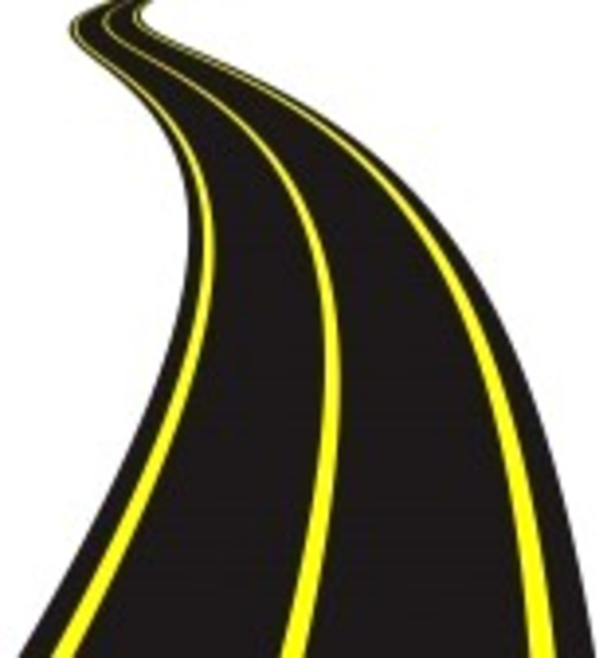 Vector Illustration Of Winding Road | Free Images at Clker ...