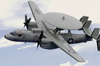 An E-2c Hawkeye Assigned To The Wallbangers Of Carrier Airborne Early Warning Squadron One One Seven (vaw-117) Image