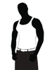 Silhouette Of The Young Athlete In A Vest On A White Background Image