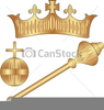 Orb And Sceptre Clipart Image