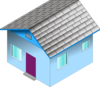 Small Blue House Clip Art