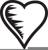 Black And White Heart Clipart Image