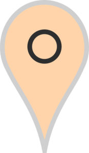 Google Map Pointer Beige Clip Art
