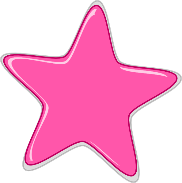 pink star edited2 clip art at clker com vector clip art free clipart cake stall free cake clipart black and white