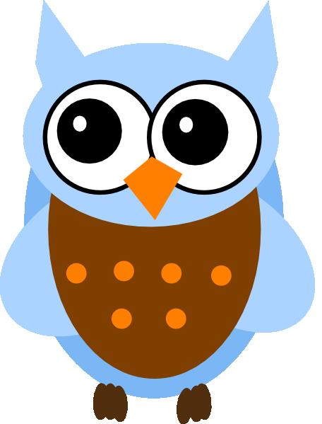 Blue And Orange Owl Clip Art at Clker.com - vector clip ...