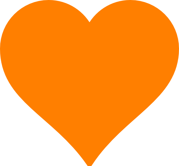 orange heart clip art at clker com vector clip art free love clipart images free love clipart