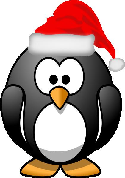 Christmas penguin clip art at vector clip art - Pinguini di natale immagini ...