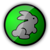 Rabbit In Green Clip Art