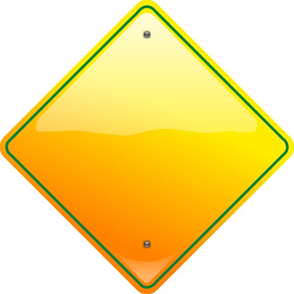 stop sign yellow clip art at clkercom vector clip art