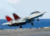 F-14d Launches From Carrier Flight Deck Clip Art